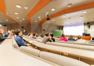 In the lecture theatre